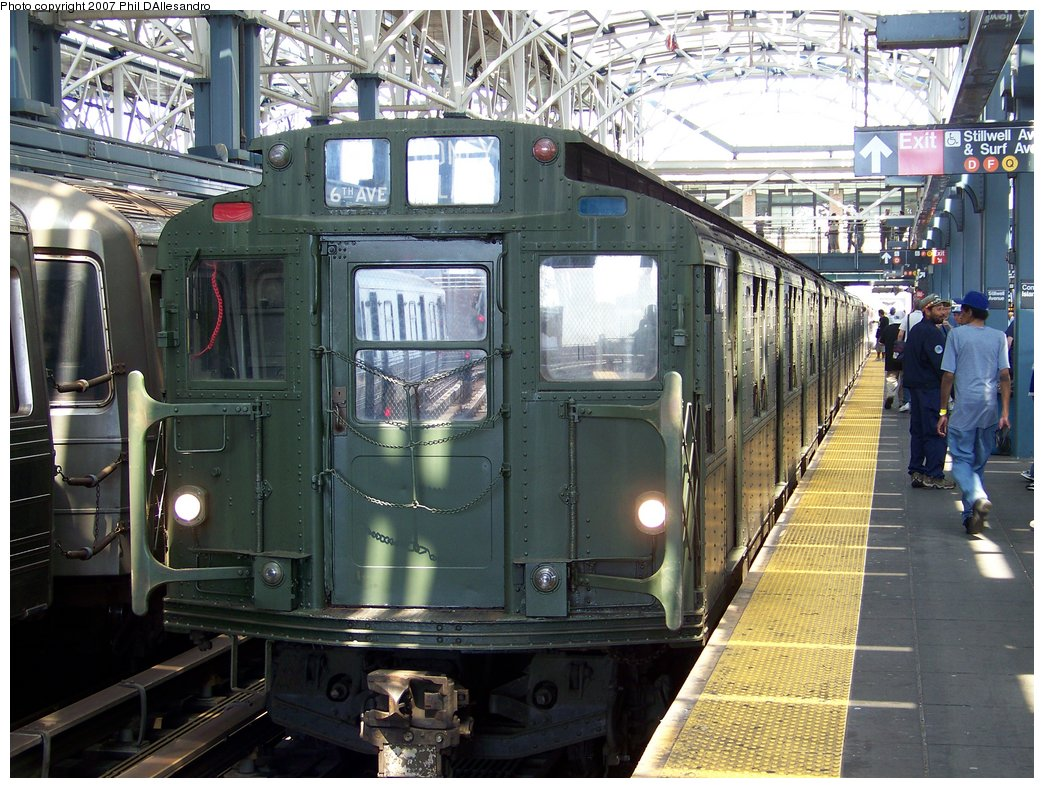 (229k, 1044x788)<br><b>Country:</b> United States<br><b>City:</b> New York<br><b>System:</b> New York City Transit<br><b>Location:</b> Coney Island/Stillwell Avenue<br><b>Route:</b> Fan Trip<br><b>Car:</b> R-9 (Pressed Steel, 1940) 1802 <br><b>Photo by:</b> Philip D'Allesandro<br><b>Date:</b> 8/12/2007<br><b>Viewed (this week/total):</b> 2 / 2245