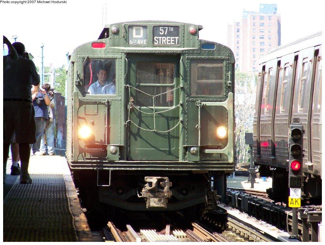 (202k, 1044x788)<br><b>Country:</b> United States<br><b>City:</b> New York<br><b>System:</b> New York City Transit<br><b>Location:</b> Coney Island/Stillwell Avenue<br><b>Route:</b> Fan Trip<br><b>Car:</b> R-9 (Pressed Steel, 1940) 1802 <br><b>Photo by:</b> Michael Hodurski<br><b>Date:</b> 8/12/2007<br><b>Viewed (this week/total):</b> 0 / 2693