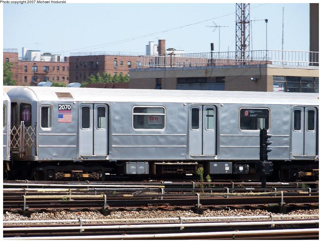 (205k, 1044x788)<br><b>Country:</b> United States<br><b>City:</b> New York<br><b>System:</b> New York City Transit<br><b>Location:</b> Coney Island Yard<br><b>Car:</b> R-62A (Bombardier, 1984-1987) 2070 <br><b>Photo by:</b> Michael Hodurski<br><b>Date:</b> 8/12/2007<br><b>Viewed (this week/total):</b> 4 / 2322