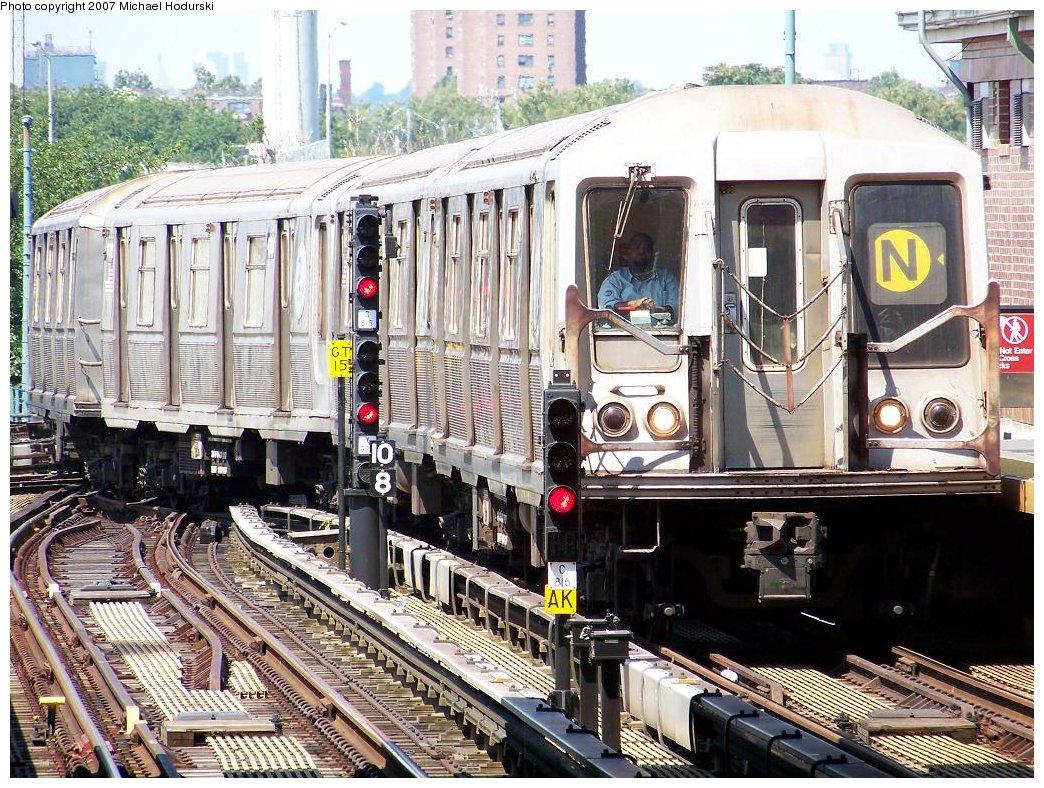 (280k, 1044x788)<br><b>Country:</b> United States<br><b>City:</b> New York<br><b>System:</b> New York City Transit<br><b>Location:</b> Coney Island/Stillwell Avenue<br><b>Route:</b> N<br><b>Car:</b> R-40 (St. Louis, 1968) 4394 <br><b>Photo by:</b> Michael Hodurski<br><b>Date:</b> 8/12/2007<br><b>Viewed (this week/total):</b> 5 / 2349