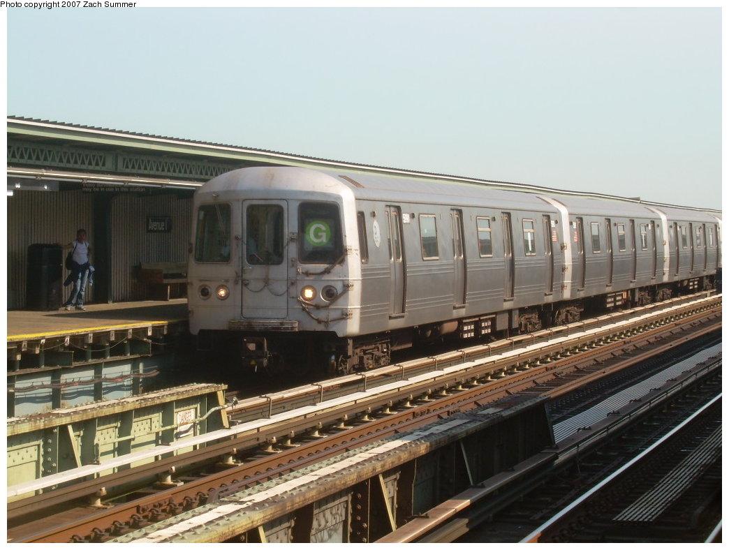 (200k, 1044x788)<br><b>Country:</b> United States<br><b>City:</b> New York<br><b>System:</b> New York City Transit<br><b>Line:</b> BMT Culver Line<br><b>Location:</b> Avenue I<br><b>Route:</b> G<br><b>Car:</b> R-46 (Pullman-Standard, 1974-75) 5990 <br><b>Photo by:</b> Zach Summer<br><b>Date:</b> 8/12/2007<br><b>Viewed (this week/total):</b> 1 / 2038