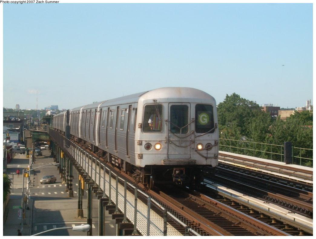 (193k, 1044x788)<br><b>Country:</b> United States<br><b>City:</b> New York<br><b>System:</b> New York City Transit<br><b>Line:</b> BMT Culver Line<br><b>Location:</b> Avenue I<br><b>Route:</b> G<br><b>Car:</b> R-46 (Pullman-Standard, 1974-75)  <br><b>Photo by:</b> Zach Summer<br><b>Date:</b> 8/12/2007<br><b>Viewed (this week/total):</b> 2 / 2281