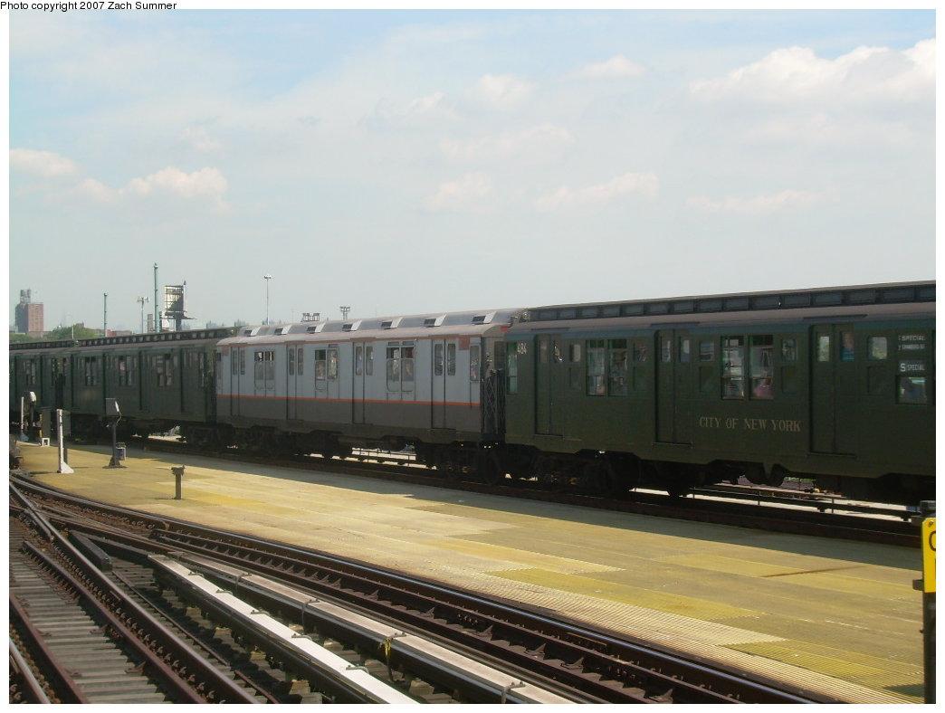 (166k, 1044x788)<br><b>Country:</b> United States<br><b>City:</b> New York<br><b>System:</b> New York City Transit<br><b>Location:</b> Coney Island/Stillwell Avenue<br><b>Route:</b> Fan Trip<br><b>Car:</b> R-7A (Pullman, 1938) 1575 <br><b>Photo by:</b> Zach Summer<br><b>Date:</b> 8/12/2007<br><b>Viewed (this week/total):</b> 2 / 1824