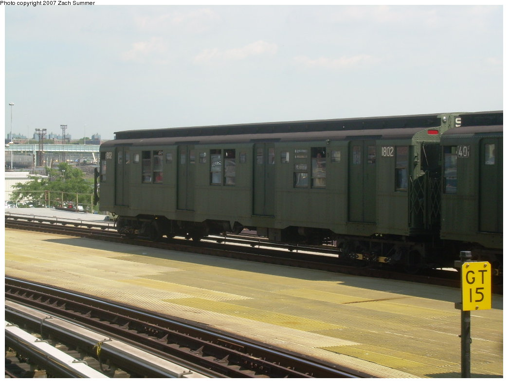 (172k, 1044x788)<br><b>Country:</b> United States<br><b>City:</b> New York<br><b>System:</b> New York City Transit<br><b>Location:</b> Coney Island/Stillwell Avenue<br><b>Route:</b> Fan Trip<br><b>Car:</b> R-9 (Pressed Steel, 1940) 1802 <br><b>Photo by:</b> Zach Summer<br><b>Date:</b> 8/12/2007<br><b>Viewed (this week/total):</b> 5 / 2078