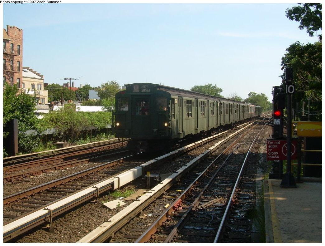 (250k, 1044x788)<br><b>Country:</b> United States<br><b>City:</b> New York<br><b>System:</b> New York City Transit<br><b>Line:</b> BMT Brighton Line<br><b>Location:</b> Kings Highway<br><b>Route:</b> Fan Trip<br><b>Car:</b> R-9 (Pressed Steel, 1940) 1802 <br><b>Photo by:</b> Zach Summer<br><b>Date:</b> 8/12/2007<br><b>Viewed (this week/total):</b> 4 / 2252