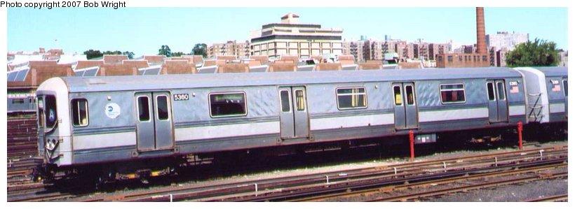 (60k, 820x299)<br><b>Country:</b> United States<br><b>City:</b> New York<br><b>System:</b> New York City Transit<br><b>Location:</b> 207th Street Yard<br><b>Car:</b> R-44 (St. Louis, 1971-73) 5360 <br><b>Photo by:</b> Bob Wright<br><b>Date:</b> 8/24/2003<br><b>Viewed (this week/total):</b> 5 / 2933