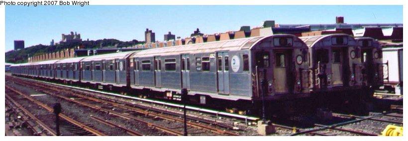 (57k, 820x285)<br><b>Country:</b> United States<br><b>City:</b> New York<br><b>System:</b> New York City Transit<br><b>Location:</b> 207th Street Yard<br><b>Car:</b> R-38 (St. Louis, 1966-1967)  <br><b>Photo by:</b> Bob Wright<br><b>Date:</b> 8/24/2003<br><b>Viewed (this week/total):</b> 4 / 2704