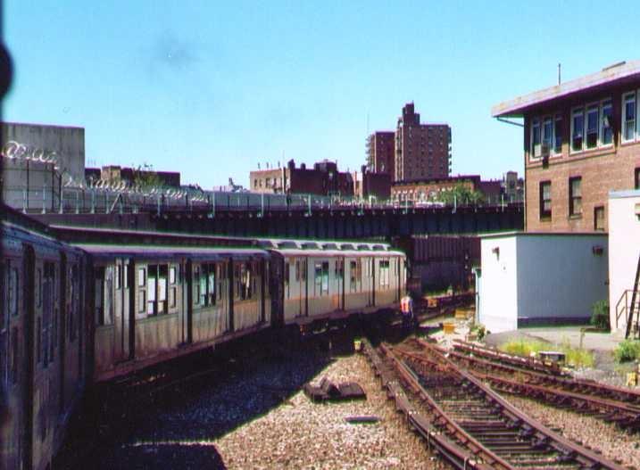 (116k, 717x527)<br><b>Country:</b> United States<br><b>City:</b> New York<br><b>System:</b> New York City Transit<br><b>Location:</b> 207th Street Yard<br><b>Route:</b> Fan Trip<br><b>Car:</b> R-7A (Pullman, 1938) 1575 <br><b>Photo by:</b> Bob Wright<br><b>Date:</b> 8/24/2003<br><b>Viewed (this week/total):</b> 2 / 2415