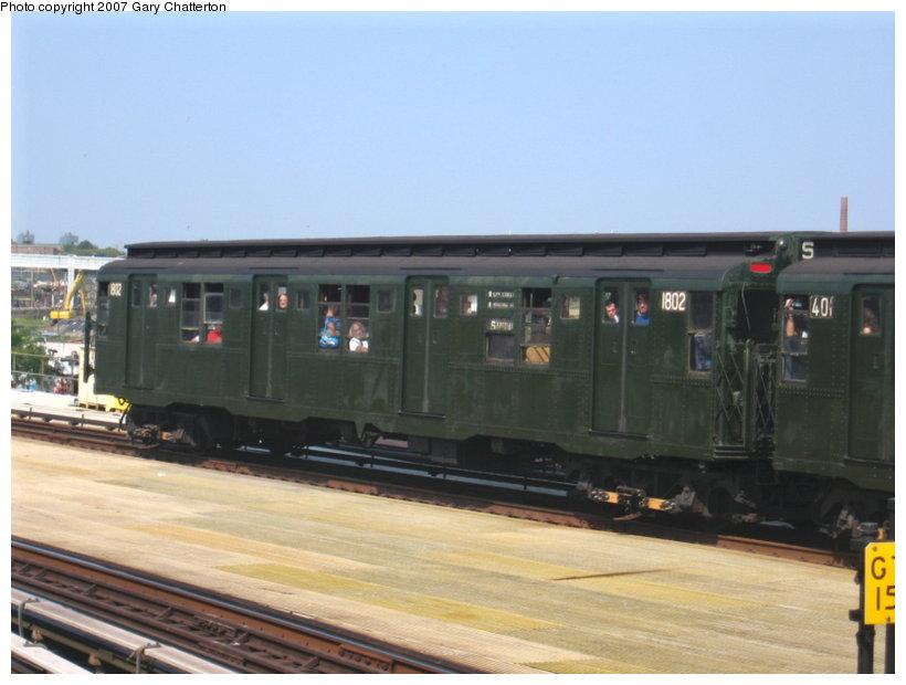 (82k, 820x620)<br><b>Country:</b> United States<br><b>City:</b> New York<br><b>System:</b> New York City Transit<br><b>Location:</b> Coney Island/Stillwell Avenue<br><b>Route:</b> Fan Trip<br><b>Car:</b> R-9 (Pressed Steel, 1940) 1802 <br><b>Photo by:</b> Gary Chatterton<br><b>Date:</b> 9/8/2007<br><b>Viewed (this week/total):</b> 4 / 3324