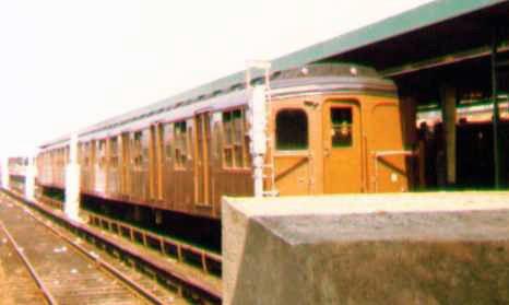 (47k, 466x279)<br><b>Country:</b> United States<br><b>City:</b> New York<br><b>System:</b> New York City Transit<br><b>Line:</b> IND Rockaway Line<br><b>Location:</b> Rockaway Park/Beach 116th Street<br><b>Route:</b> Fan Trip<br><b>Car:</b> BMT A/B-Type Standard 2390-2391-2392 <br><b>Photo by:</b> Bob Wright<br><b>Date:</b> 7/15/1978<br><b>Viewed (this week/total):</b> 0 / 2184