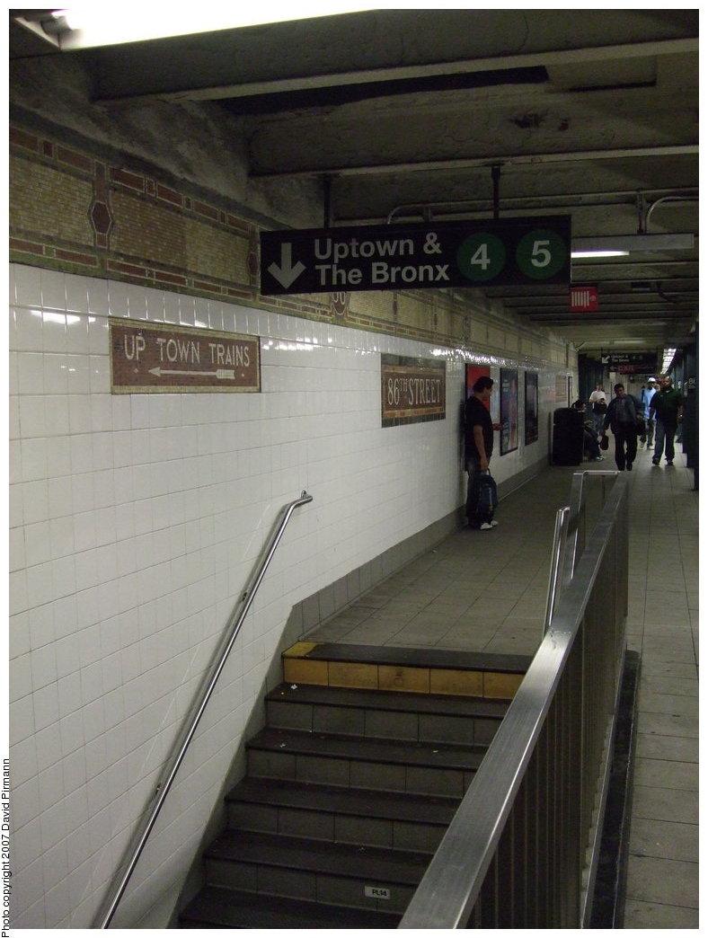 (152k, 788x1044)<br><b>Country:</b> United States<br><b>City:</b> New York<br><b>System:</b> New York City Transit<br><b>Line:</b> IRT East Side Line<br><b>Location:</b> 86th Street<br><b>Photo by:</b> David Pirmann<br><b>Date:</b> 9/21/2007<br><b>Notes:</b> Stairs to lower level (Express) platform.<br><b>Viewed (this week/total):</b> 2 / 3581