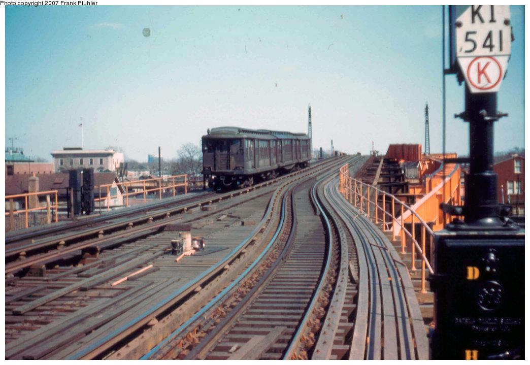 (200k, 1044x719)<br><b>Country:</b> United States<br><b>City:</b> New York<br><b>System:</b> New York City Transit<br><b>Line:</b> IND Fulton Street Line<br><b>Location:</b> Rockaway Boulevard<br><b>Car:</b> BMT C 1524 <br><b>Photo by:</b> Frank Pfuhler<br><b>Date:</b> 3/20/1955<br><b>Viewed (this week/total):</b> 0 / 4175
