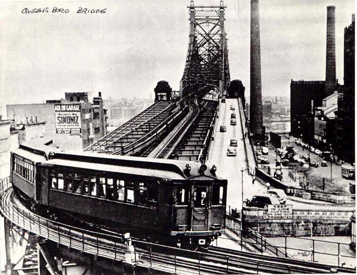 (54k, 696x536)<br><b>Country:</b> United States<br><b>City:</b> New York<br><b>System:</b> New York City Transit<br><b>Line:</b> 2nd Avenue El<br><b>Location:</b> Queensborough Bridge<br><b>Collection of:</b> Frank Pfuhler<br><b>Viewed (this week/total):</b> 2 / 9080