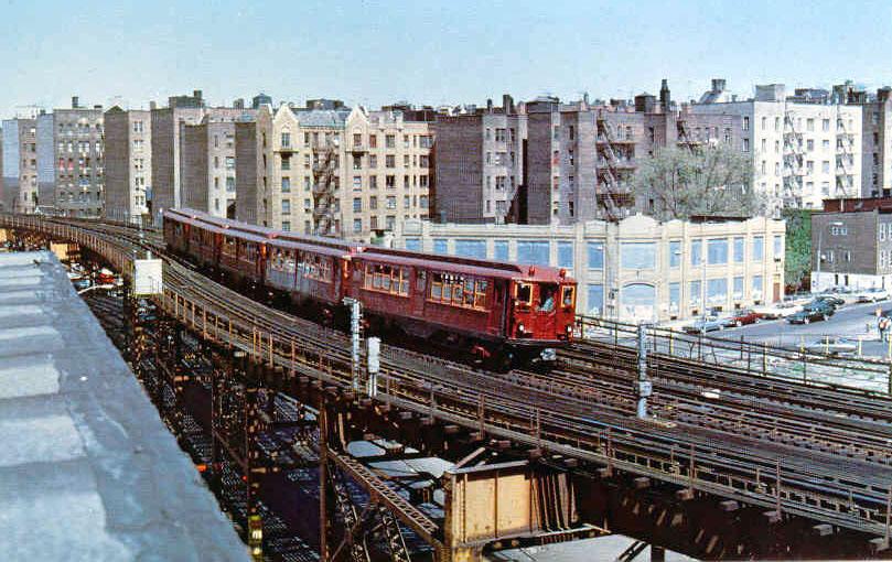 (159k, 809x510)<br><b>Country:</b> United States<br><b>City:</b> New York<br><b>System:</b> New York City Transit<br><b>Line:</b> IRT Woodlawn Line<br><b>Location:</b> 167th Street<br><b>Car:</b> Low-V (Museum Train)  <br><b>Photo by:</b> Frank Pfuhler<br><b>Date:</b> 5/5/1979<br><b>Viewed (this week/total):</b> 0 / 3637