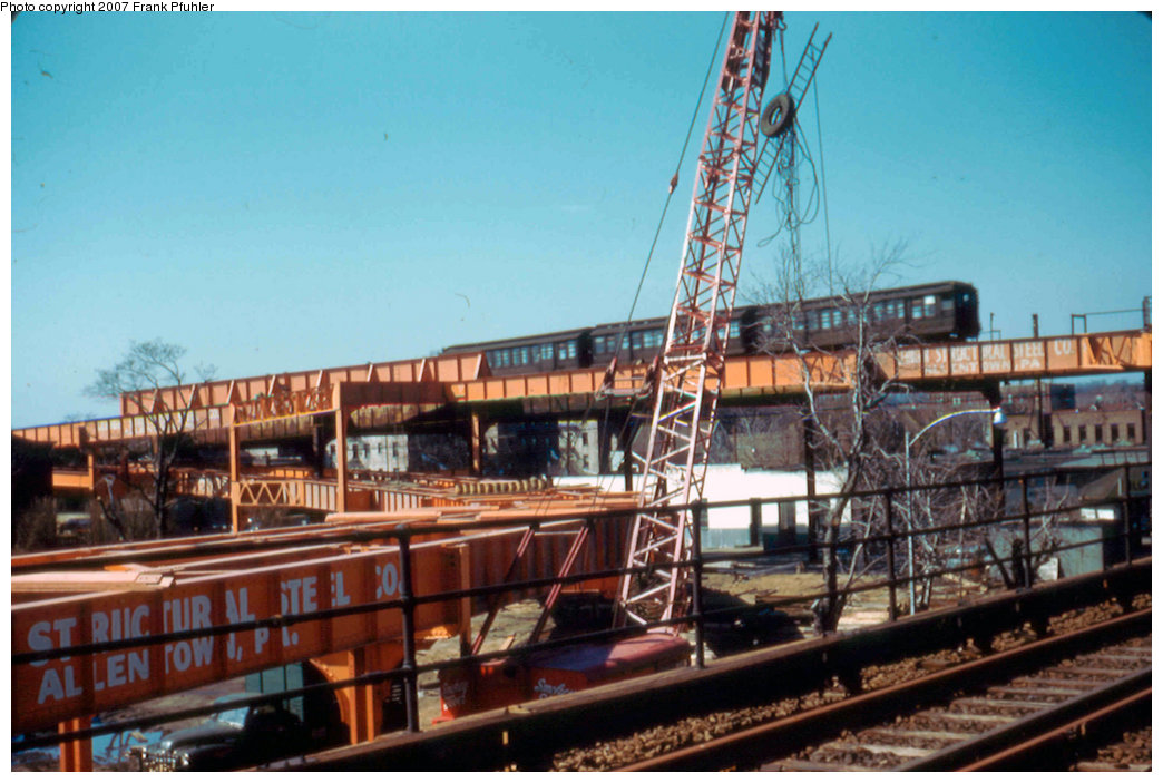 (220k, 1044x703)<br><b>Country:</b> United States<br><b>City:</b> New York<br><b>System:</b> New York City Transit<br><b>Line:</b> IND Fulton Street Line<br><b>Location:</b> Rockaway Boulevard<br><b>Photo by:</b> Frank Pfuhler<br><b>Date:</b> 3/20/1955<br><b>Viewed (this week/total):</b> 0 / 3591