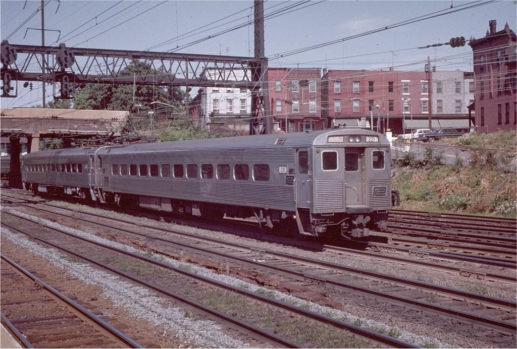 (271k, 1024x692)<br><b>Country:</b> United States<br><b>System:</b> Northeast Corridor (NJ) (Amtrak/NJTransit)<br><b>Line:</b> Northeast Corridor<br><b>Location:</b> Trenton<br><b>Car:</b> SEPTA Silverliner III (Ex-PRR) (St. Louis Car, 1967) 221 <br><b>Photo by:</b> Willie Rosenberg<br><b>Collection of:</b> Joe Testagrose<br><b>Date:</b> 7/1971<br><b>Viewed (this week/total):</b> 0 / 2456