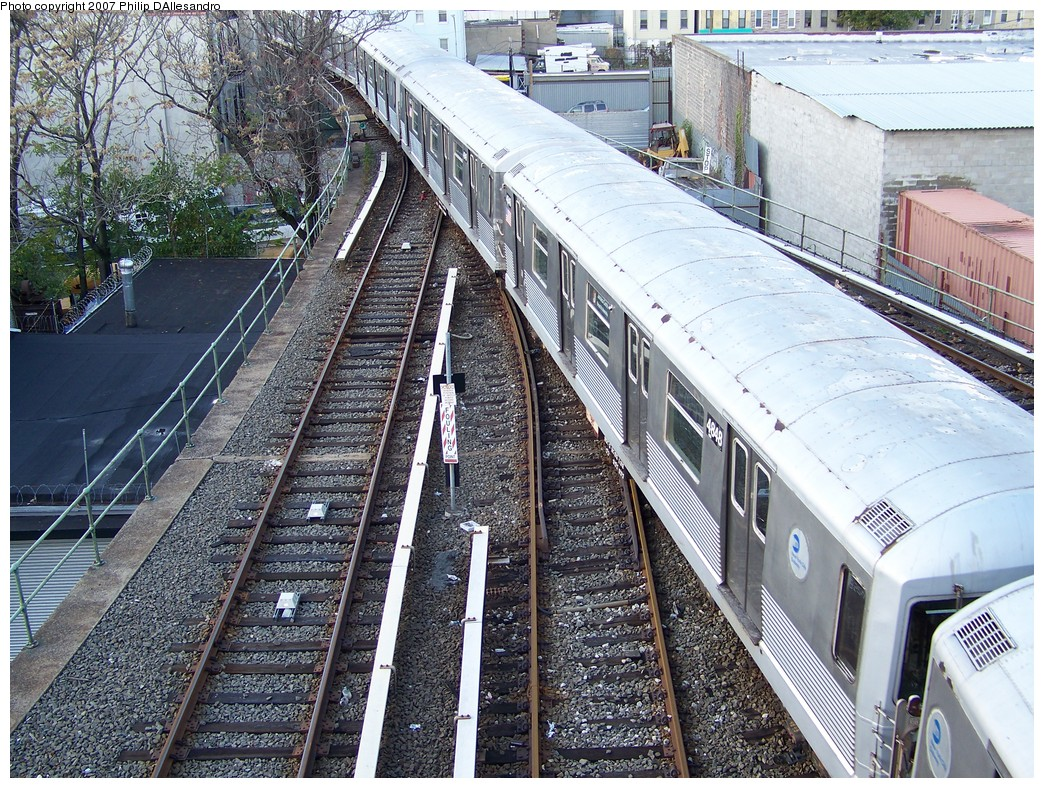 (366k, 1044x788)<br><b>Country:</b> United States<br><b>City:</b> New York<br><b>System:</b> New York City Transit<br><b>Location:</b> East New York Yard/Shops<br><b>Car:</b> R-42 (St. Louis, 1969-1970) 4848 <br><b>Photo by:</b> Philip D'Allesandro<br><b>Date:</b> 11/6/2007<br><b>Viewed (this week/total):</b> 0 / 3117