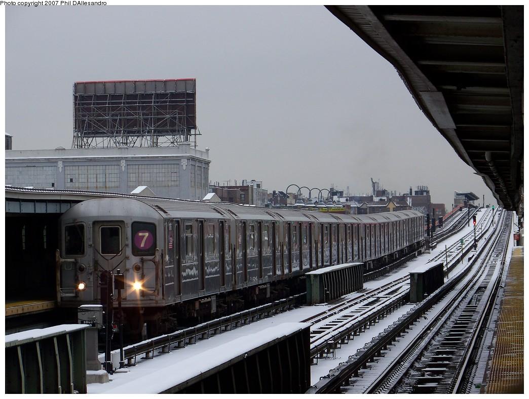 (231k, 1044x788)<br><b>Country:</b> United States<br><b>City:</b> New York<br><b>System:</b> New York City Transit<br><b>Line:</b> IRT Flushing Line<br><b>Location:</b> 33rd Street/Rawson Street<br><b>Route:</b> 7<br><b>Car:</b> R-62A (Bombardier, 1984-1987) 1776 <br><b>Photo by:</b> Philip D'Allesandro<br><b>Date:</b> 12/2/2007<br><b>Viewed (this week/total):</b> 2 / 1856