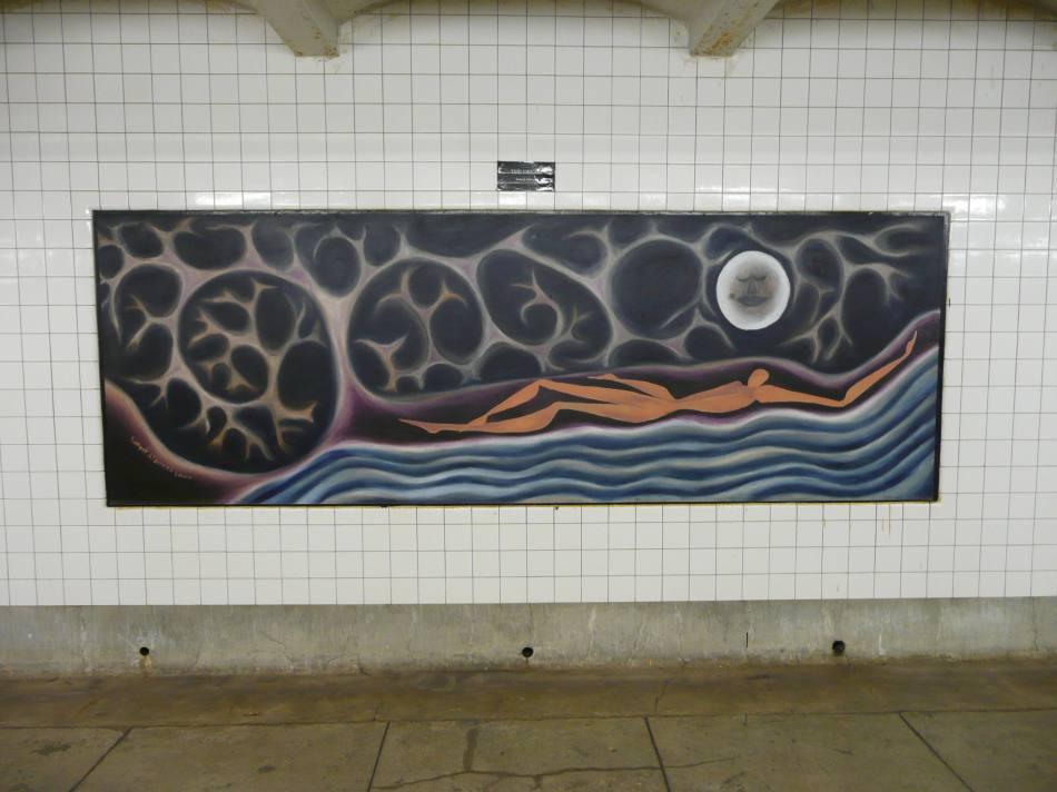 (96k, 950x712)<br><b>Country:</b> United States<br><b>City:</b> New York<br><b>System:</b> New York City Transit<br><b>Line:</b> IND Crosstown Line<br><b>Location:</b> Clinton/Washington Aves.<br><b>Photo by:</b> Robbie Rosenfeld<br><b>Date:</b> 11/27/2007<br><b>Artwork:</b> <i>The Dream</i>, Sameeh Alderazi, 2000<br><b>Viewed (this week/total):</b> 1 / 2915