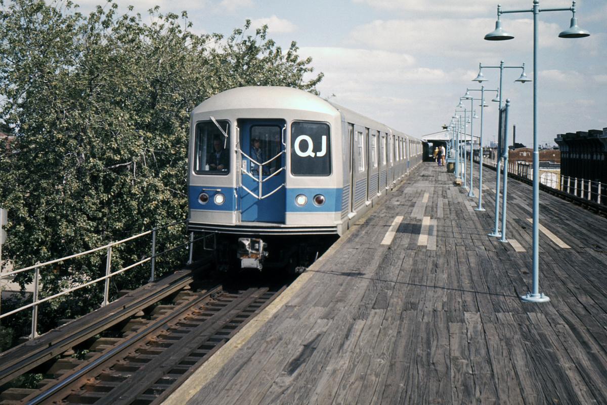(601k, 1200x800)<br><b>Country:</b> United States<br><b>City:</b> New York<br><b>System:</b> New York City Transit<br><b>Line:</b> BMT Nassau Street-Jamaica Line<br><b>Location:</b> Crescent Street<br><b>Route:</b> QJ<br><b>Car:</b> R-42 (St. Louis, 1969-1970)  <br><b>Photo by:</b> Ed Davis, Sr.<br><b>Collection of:</b> David Pirmann<br><b>Date:</b> 6/1970<br><b>Viewed (this week/total):</b> 4 / 5248