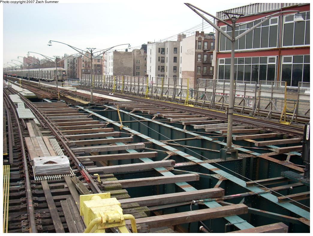 (331k, 1044x788)<br><b>Country:</b> United States<br><b>City:</b> New York<br><b>System:</b> New York City Transit<br><b>Line:</b> BMT Brighton Line<br><b>Location:</b> Ocean Parkway<br><b>Photo by:</b> Zach Summer<br><b>Date:</b> 12/9/2007<br><b>Notes:</b> Station/track reconstruction.<br><b>Viewed (this week/total):</b> 0 / 2173