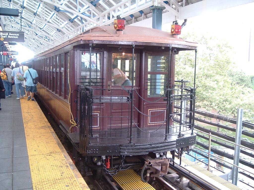 (175k, 1024x768)<br><b>Country:</b> United States<br><b>City:</b> New York<br><b>System:</b> New York City Transit<br><b>Location:</b> Coney Island/Stillwell Avenue<br><b>Route:</b> Fan Trip<br><b>Car:</b> BMT Elevated Gate Car 1407 <br><b>Photo by:</b> Chris Reidy<br><b>Date:</b> 7/18/2004<br><b>Viewed (this week/total):</b> 0 / 1869