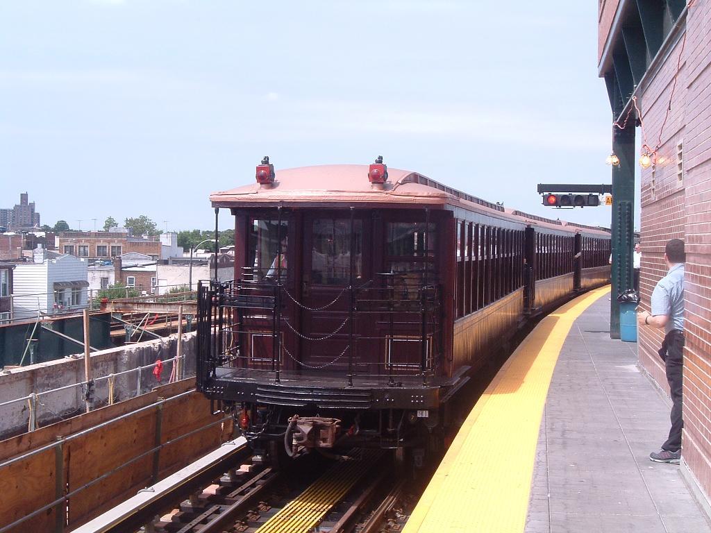 (119k, 1024x768)<br><b>Country:</b> United States<br><b>City:</b> New York<br><b>System:</b> New York City Transit<br><b>Location:</b> Coney Island/Stillwell Avenue<br><b>Route:</b> Fan Trip<br><b>Car:</b> BMT Elevated Gate Car 1407 <br><b>Photo by:</b> Chris Reidy<br><b>Date:</b> 7/25/2004<br><b>Viewed (this week/total):</b> 0 / 1774