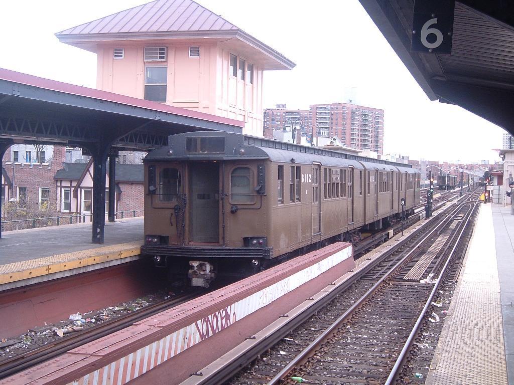 (155k, 1024x768)<br><b>Country:</b> United States<br><b>City:</b> New York<br><b>System:</b> New York City Transit<br><b>Line:</b> BMT Brighton Line<br><b>Location:</b> Brighton Beach<br><b>Route:</b> Fan Trip<br><b>Car:</b> BMT D-Type Triplex 6112 <br><b>Photo by:</b> Chris Reidy<br><b>Date:</b> 10/23/2004<br><b>Viewed (this week/total):</b> 1 / 2421
