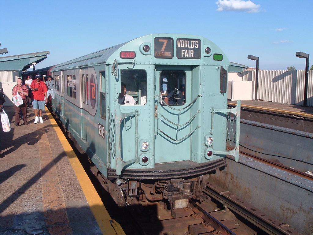 (129k, 1024x768)<br><b>Country:</b> United States<br><b>City:</b> New York<br><b>System:</b> New York City Transit<br><b>Line:</b> IND Fulton Street Line<br><b>Location:</b> Rockaway Boulevard<br><b>Route:</b> Fan Trip<br><b>Car:</b> R-33 World's Fair (St. Louis, 1963-64) 9306 <br><b>Photo by:</b> Chris Reidy<br><b>Date:</b> 4/19/2004<br><b>Viewed (this week/total):</b> 0 / 1983