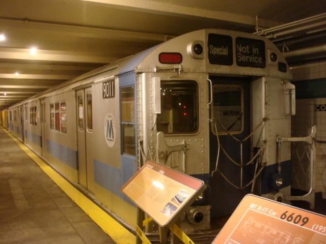 (109k, 640x480)<br><b>Country:</b> United States<br><b>City:</b> New York<br><b>System:</b> New York City Transit<br><b>Location:</b> New York Transit Museum<br><b>Car:</b> R-33 Main Line (St. Louis, 1962-63) 9011 <br><b>Photo by:</b> Danny Molina<br><b>Date:</b> 1/9/2008<br><b>Viewed (this week/total):</b> 2 / 4634
