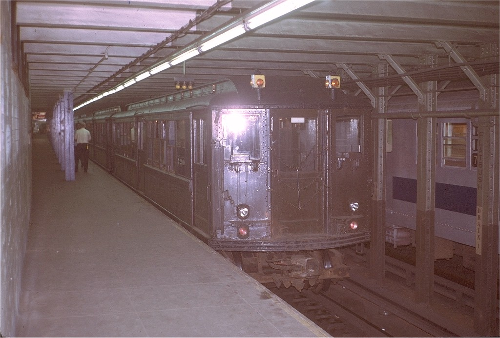 (186k, 1024x693)<br><b>Country:</b> United States<br><b>City:</b> New York<br><b>System:</b> New York City Transit<br><b>Line:</b> IRT Brooklyn Line<br><b>Location:</b> Flatbush Avenue<br><b>Route:</b> Fan Trip<br><b>Car:</b> Low-V (Museum Train) 5290 <br><b>Photo by:</b> Steve Zabel<br><b>Collection of:</b> Joe Testagrose<br><b>Date:</b> 8/6/1972<br><b>Viewed (this week/total):</b> 0 / 4700