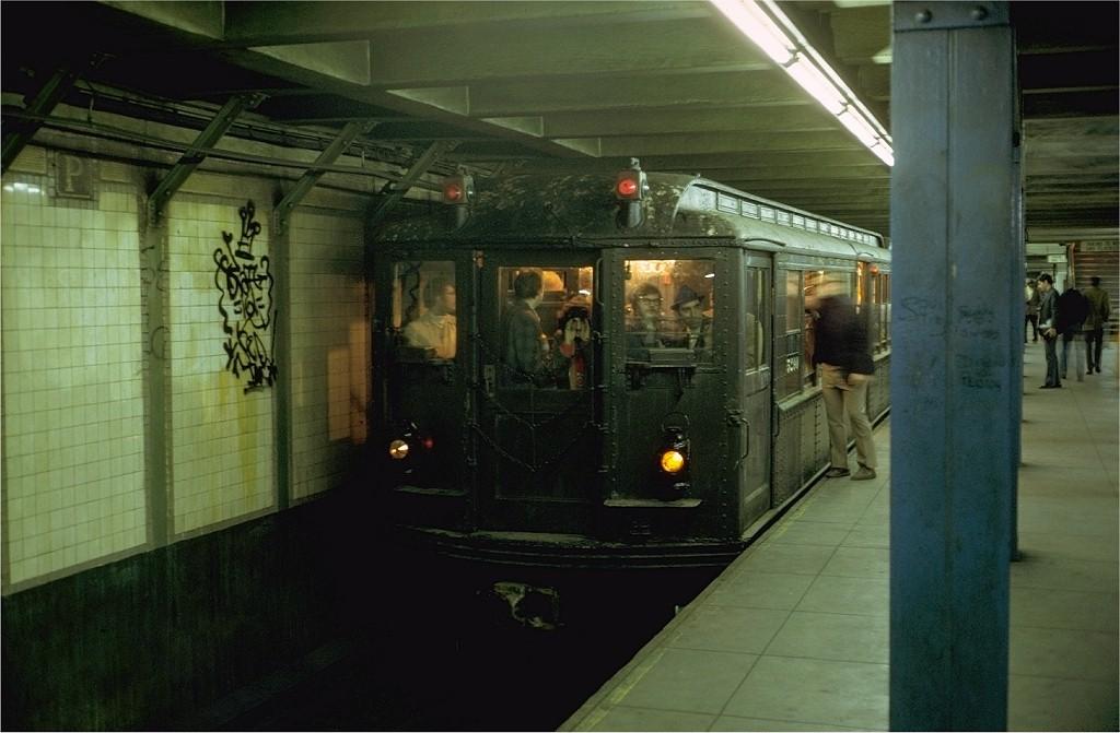 (162k, 1024x671)<br><b>Country:</b> United States<br><b>City:</b> New York<br><b>System:</b> New York City Transit<br><b>Line:</b> IRT Brooklyn Line<br><b>Location:</b> Grand Army Plaza<br><b>Route:</b> Fan Trip<br><b>Car:</b> Low-V (Museum Train) 5290 <br><b>Photo by:</b> Steve Zabel<br><b>Collection of:</b> Joe Testagrose<br><b>Date:</b> 10/28/1973<br><b>Viewed (this week/total):</b> 0 / 9556