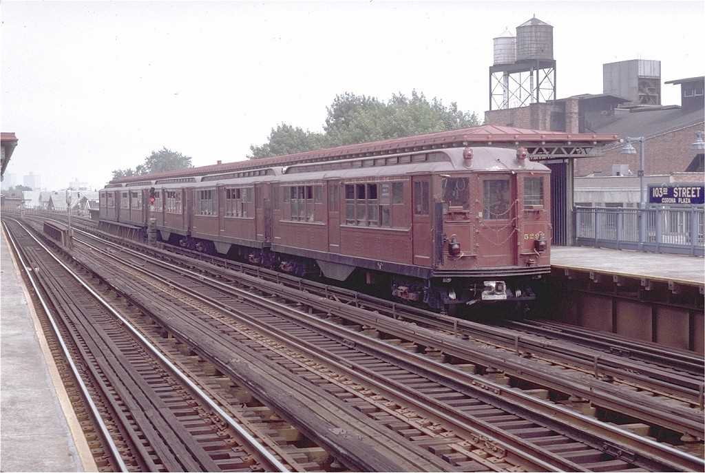 (216k, 1024x687)<br><b>Country:</b> United States<br><b>City:</b> New York<br><b>System:</b> New York City Transit<br><b>Line:</b> IRT Flushing Line<br><b>Location:</b> 103rd Street/Corona Plaza<br><b>Route:</b> Fan Trip<br><b>Car:</b> Low-V (Museum Train) 5292 <br><b>Photo by:</b> Doug Grotjahn<br><b>Collection of:</b> Joe Testagrose<br><b>Date:</b> 8/1/1979<br><b>Viewed (this week/total):</b> 0 / 4512