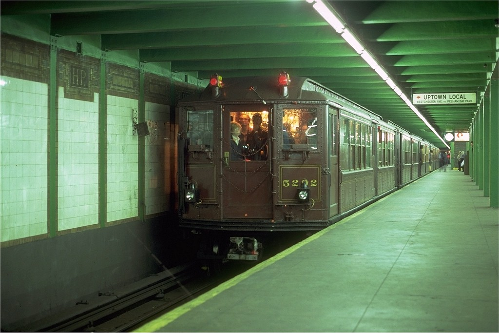 (163k, 1024x683)<br><b>Country:</b> United States<br><b>City:</b> New York<br><b>System:</b> New York City Transit<br><b>Line:</b> IRT Pelham Line<br><b>Location:</b> Hunts Point Avenue<br><b>Route:</b> Fan Trip<br><b>Car:</b> Low-V (Museum Train) 5292 <br><b>Photo by:</b> Glenn Smith<br><b>Collection of:</b> Joe Testagrose<br><b>Date:</b> 11/3/1979<br><b>Viewed (this week/total):</b> 0 / 5081