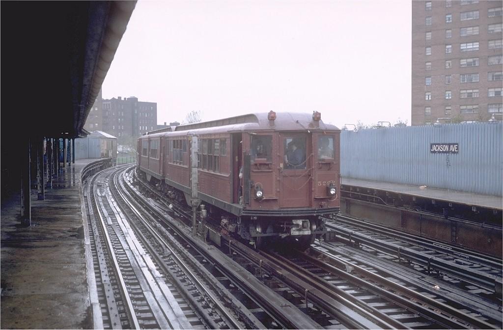 (170k, 1024x672)<br><b>Country:</b> United States<br><b>City:</b> New York<br><b>System:</b> New York City Transit<br><b>Line:</b> IRT White Plains Road Line<br><b>Location:</b> Jackson Avenue<br><b>Route:</b> Fan Trip<br><b>Car:</b> Low-V (Museum Train) 5292 <br><b>Photo by:</b> Steve Zabel<br><b>Collection of:</b> Joe Testagrose<br><b>Date:</b> 11/3/1979<br><b>Viewed (this week/total):</b> 0 / 4313