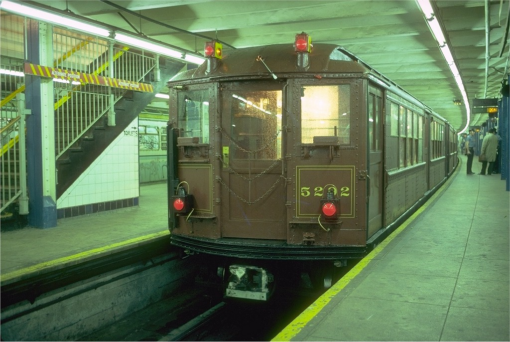 (222k, 1024x686)<br><b>Country:</b> United States<br><b>City:</b> New York<br><b>System:</b> New York City Transit<br><b>Line:</b> IRT Flushing Line<br><b>Location:</b> Main Street/Flushing<br><b>Route:</b> Fan Trip<br><b>Car:</b> Low-V (Museum Train) 5292 <br><b>Photo by:</b> Doug Grotjahn<br><b>Collection of:</b> Joe Testagrose<br><b>Date:</b> 6/3/1979<br><b>Viewed (this week/total):</b> 1 / 8665