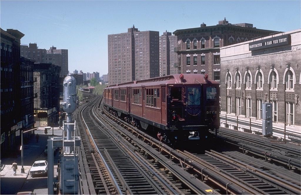 (227k, 1024x665)<br><b>Country:</b> United States<br><b>City:</b> New York<br><b>System:</b> New York City Transit<br><b>Line:</b> IRT White Plains Road Line<br><b>Location:</b> Prospect Avenue<br><b>Route:</b> Fan Trip<br><b>Car:</b> Low-V (Museum Train) 5292 <br><b>Photo by:</b> Steve Zabel<br><b>Collection of:</b> Joe Testagrose<br><b>Date:</b> 5/5/1979<br><b>Viewed (this week/total):</b> 0 / 5101