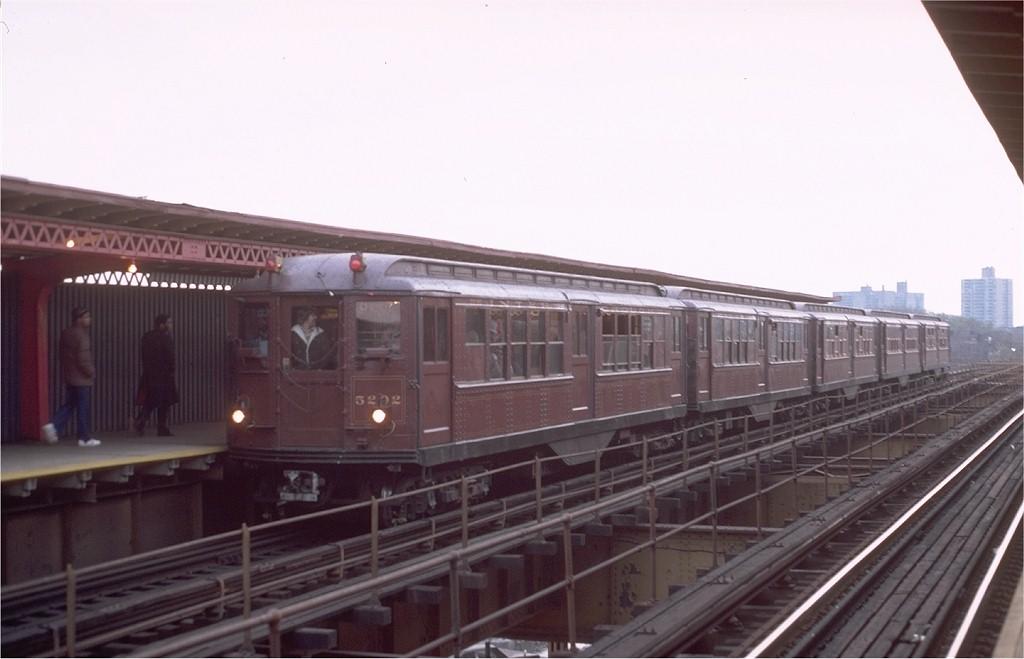 (128k, 1024x659)<br><b>Country:</b> United States<br><b>City:</b> New York<br><b>System:</b> New York City Transit<br><b>Line:</b> IRT Brooklyn Line<br><b>Location:</b> Sutter Avenue/Rutland Road<br><b>Route:</b> Fan Trip<br><b>Car:</b> Low-V (Museum Train) 5292 <br><b>Photo by:</b> Steve Zabel<br><b>Collection of:</b> Joe Testagrose<br><b>Date:</b> 11/3/1979<br><b>Viewed (this week/total):</b> 0 / 5306
