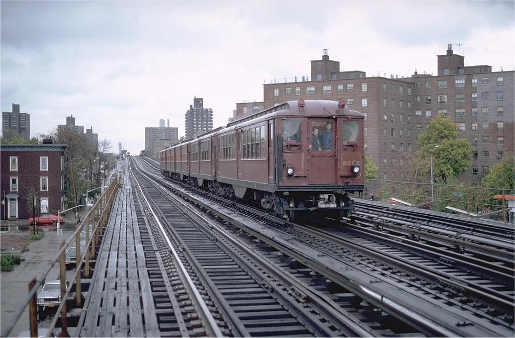 (207k, 1024x672)<br><b>Country:</b> United States<br><b>City:</b> New York<br><b>System:</b> New York City Transit<br><b>Line:</b> IRT White Plains Road Line<br><b>Location:</b> Burke Avenue<br><b>Route:</b> Fan Trip<br><b>Car:</b> Low-V (Museum Train) 5292 <br><b>Photo by:</b> Glenn Smith<br><b>Collection of:</b> Joe Testagrose<br><b>Date:</b> 11/3/1979<br><b>Viewed (this week/total):</b> 0 / 5208