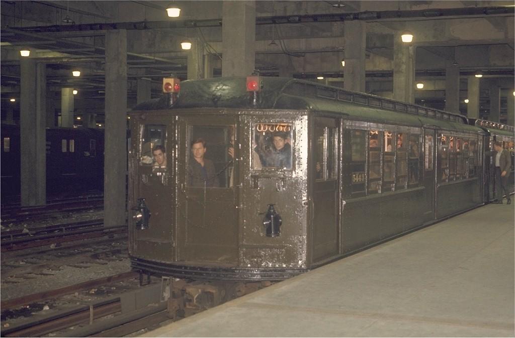 (154k, 1024x673)<br><b>Country:</b> United States<br><b>City:</b> New York<br><b>System:</b> New York City Transit<br><b>Line:</b> IRT Lenox Avenue Line<br><b>Location:</b> 148th Street/Lenox Terminal<br><b>Route:</b> Fan Trip<br><b>Car:</b> Low-V (Museum Train) 5443 <br><b>Photo by:</b> Joe Testagrose<br><b>Date:</b> 4/25/1970<br><b>Viewed (this week/total):</b> 3 / 5277