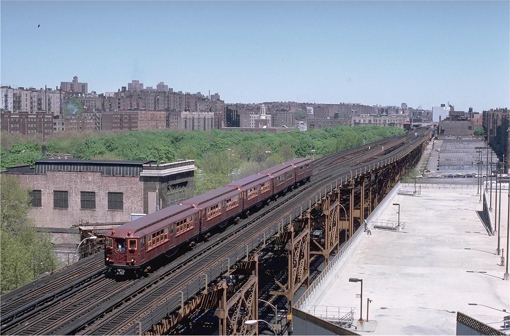 (263k, 1024x675)<br><b>Country:</b> United States<br><b>City:</b> New York<br><b>System:</b> New York City Transit<br><b>Line:</b> IRT Woodlawn Line<br><b>Location:</b> 161st Street-River Avenue (Yankee Stadium)<br><b>Route:</b> Fan Trip<br><b>Car:</b> Low-V (Museum Train) 5443 <br><b>Photo by:</b> Steve Zabel<br><b>Collection of:</b> Joe Testagrose<br><b>Date:</b> 5/5/1979<br><b>Viewed (this week/total):</b> 0 / 5523