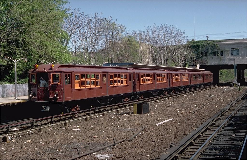 (300k, 1024x662)<br><b>Country:</b> United States<br><b>City:</b> New York<br><b>System:</b> New York City Transit<br><b>Line:</b> IRT Dyre Ave. Line<br><b>Location:</b> Gun Hill Road<br><b>Route:</b> Fan Trip<br><b>Car:</b> Low-V (Museum Train) 5443 <br><b>Photo by:</b> Doug Grotjahn<br><b>Collection of:</b> Joe Testagrose<br><b>Date:</b> 5/5/1979<br><b>Viewed (this week/total):</b> 3 / 7498
