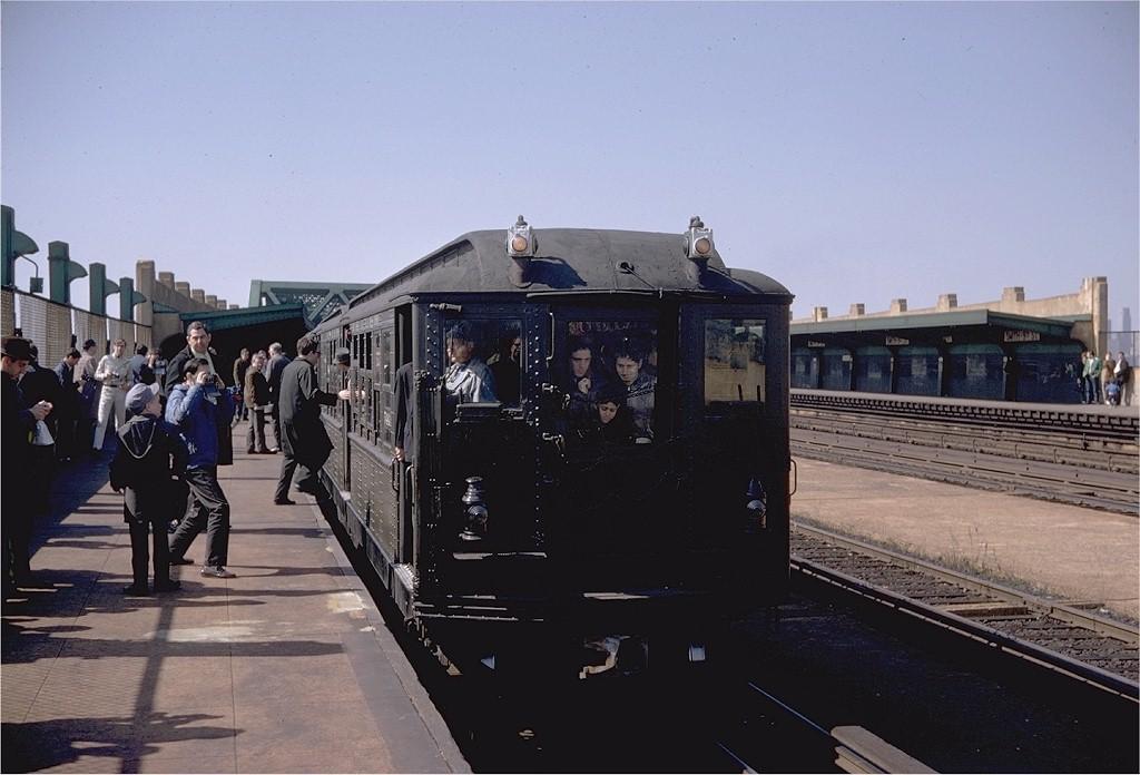 (165k, 1024x696)<br><b>Country:</b> United States<br><b>City:</b> New York<br><b>System:</b> New York City Transit<br><b>Line:</b> IND Crosstown Line<br><b>Location:</b> Smith/9th Street<br><b>Route:</b> Fan Trip<br><b>Car:</b> Low-V (Museum Train) 5443 <br><b>Photo by:</b> Doug Grotjahn<br><b>Collection of:</b> Joe Testagrose<br><b>Date:</b> 4/6/1968<br><b>Viewed (this week/total):</b> 0 / 3740