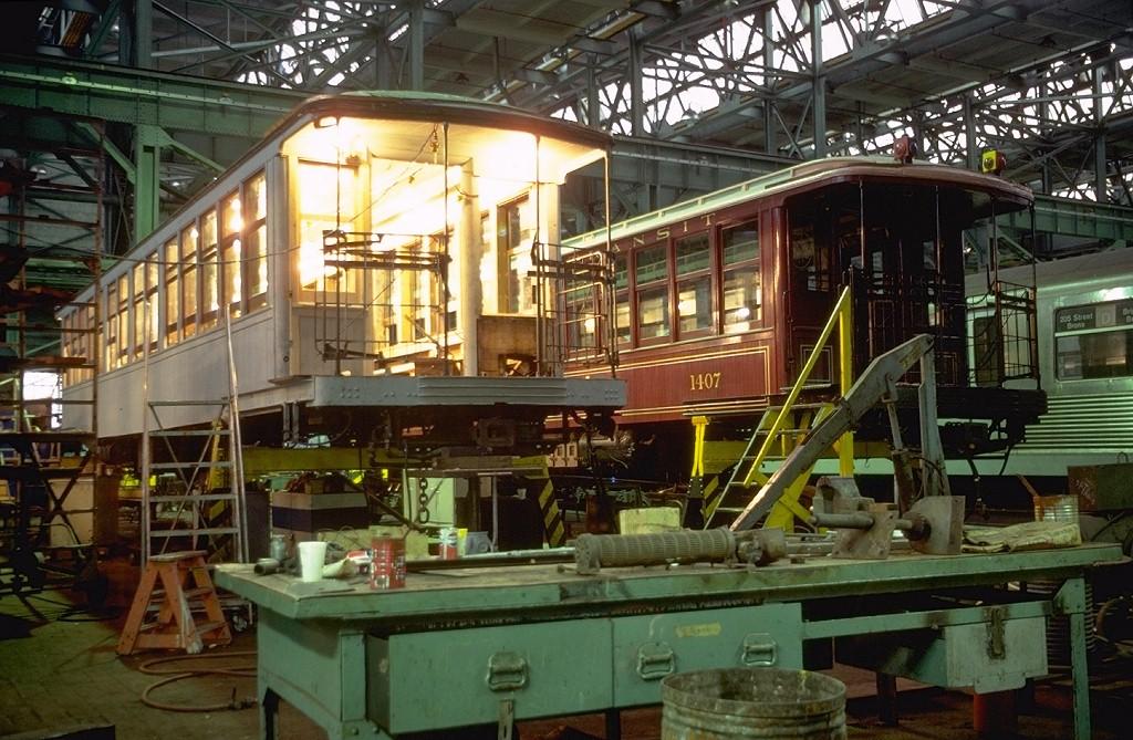 (231k, 1024x669)<br><b>Country:</b> United States<br><b>City:</b> New York<br><b>System:</b> New York City Transit<br><b>Location:</b> Coney Island Shop/Overhaul & Repair Shop<br><b>Car:</b> BMT Elevated Gate Car 1273 <br><b>Photo by:</b> Steve Zabel<br><b>Collection of:</b> Joe Testagrose<br><b>Date:</b> 7/4/1979<br><b>Viewed (this week/total):</b> 5 / 5039
