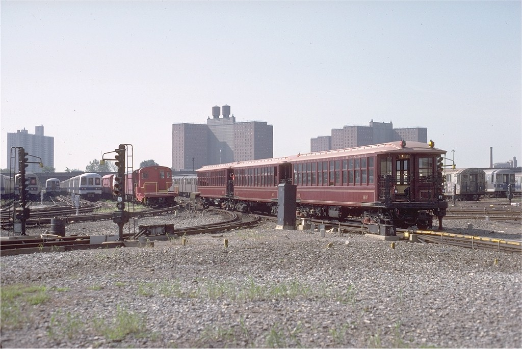 (200k, 1024x685)<br><b>Country:</b> United States<br><b>City:</b> New York<br><b>System:</b> New York City Transit<br><b>Location:</b> Coney Island Yard-Museum Yard<br><b>Car:</b> BMT Elevated Gate Car 1407-1273-1404 <br><b>Photo by:</b> Steve Zabel<br><b>Collection of:</b> Joe Testagrose<br><b>Date:</b> 8/31/1979<br><b>Viewed (this week/total):</b> 1 / 3487