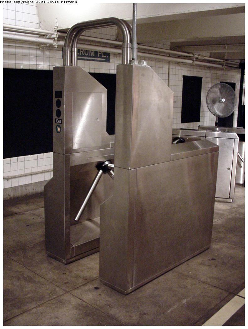(113k, 790x1047)<br><b>Country:</b> United States<br><b>City:</b> New York<br><b>System:</b> New York City Transit<br><b>Location:</b> New York Transit Museum<br><b>Photo by:</b> David Pirmann<br><b>Date:</b> 6/18/2000<br><b>Notes:</b> Current AFC Metrocard/token turnstile-fare collection exhibit at the New York Transit Museum<br><b>Viewed (this week/total):</b> 0 / 36406