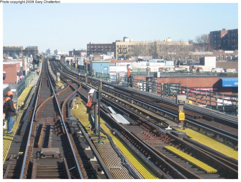 (171k, 820x620)<br><b>Country:</b> United States<br><b>City:</b> New York<br><b>System:</b> New York City Transit<br><b>Line:</b> IRT Flushing Line<br><b>Location:</b> 74th Street/Broadway<br><b>Photo by:</b> Gary Chatterton<br><b>Date:</b> 2/14/2008<br><b>Notes:</b> New Switch Track East of 74 Street Station, Express-S/B Local<br><b>Viewed (this week/total):</b> 0 / 1412