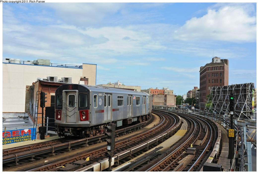 (269k, 1044x702)<br><b>Country:</b> United States<br><b>City:</b> New York<br><b>System:</b> New York City Transit<br><b>Line:</b> IRT White Plains Road Line<br><b>Location:</b> Simpson Street<br><b>Route:</b> 2<br><b>Car:</b> R-142 (Primary Order, Bombardier, 1999-2002) 6595 <br><b>Photo by:</b> Richard Panse<br><b>Date:</b> 9/11/2011<br><b>Viewed (this week/total):</b> 0 / 1444