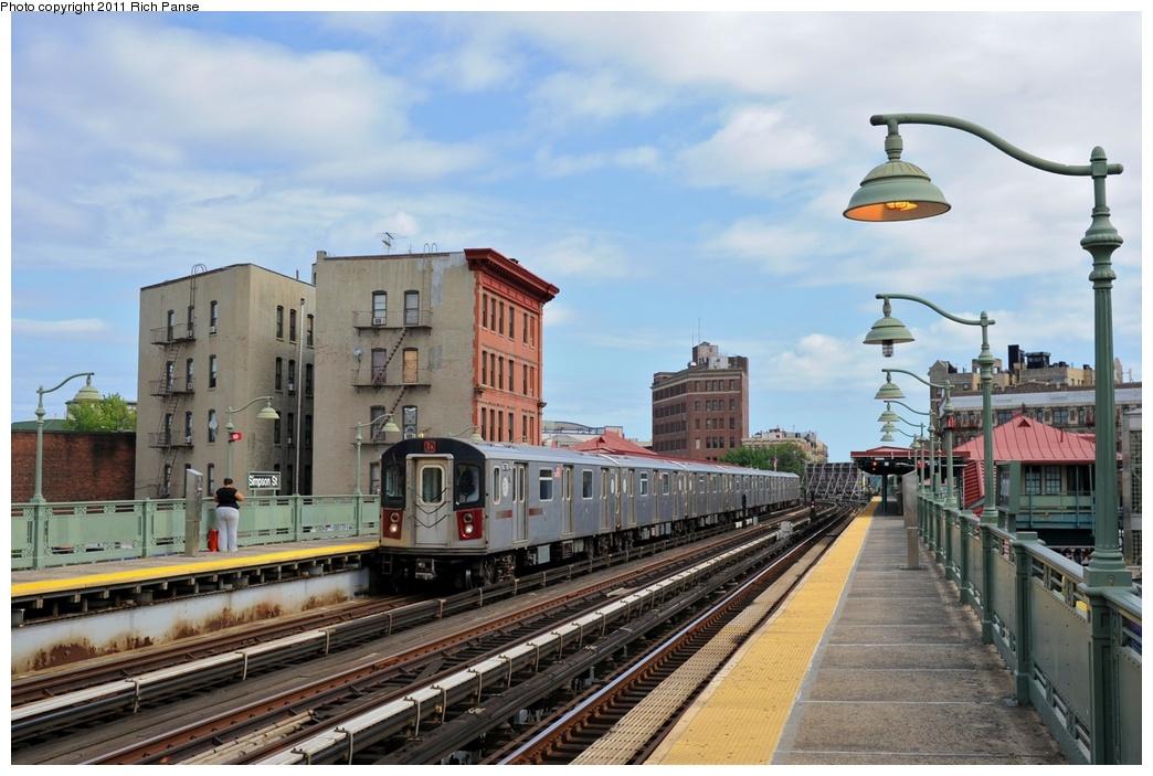 (259k, 1044x703)<br><b>Country:</b> United States<br><b>City:</b> New York<br><b>System:</b> New York City Transit<br><b>Line:</b> IRT White Plains Road Line<br><b>Location:</b> Simpson Street<br><b>Route:</b> 5<br><b>Car:</b> R-142 (Primary Order, Bombardier, 1999-2002) 6776 <br><b>Photo by:</b> Richard Panse<br><b>Date:</b> 9/11/2011<br><b>Viewed (this week/total):</b> 2 / 1441