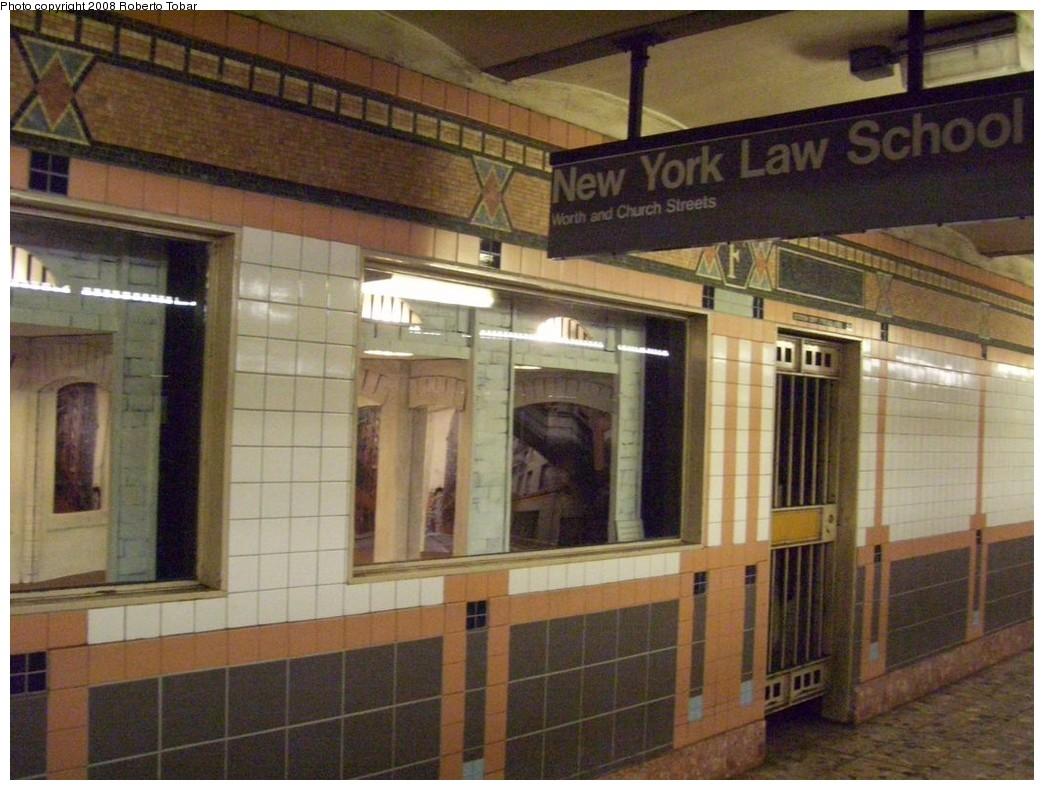(213k, 1044x790)<br><b>Country:</b> United States<br><b>City:</b> New York<br><b>System:</b> New York City Transit<br><b>Line:</b> IRT West Side Line<br><b>Location:</b> Franklin Street<br><b>Photo by:</b> Roberto C. Tobar<br><b>Date:</b> 4/12/2008<br><b>Notes:</b> Art boxes.<br><b>Viewed (this week/total):</b> 4 / 2289